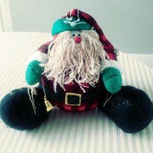 Stuffed Santa with Curly Beard